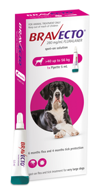Bravecto Spot-On for Dogs X-Large (40-56 kg)
