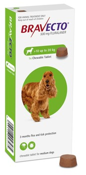Bravecto Chewable Medium Dog 10-20 kg
