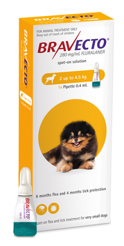 Bravecto Spot-On for Dogs X-Small 2-4.5 kg