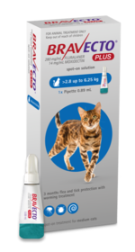 Bravecto PLUS for Cats Medium