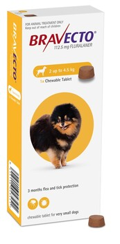 Bravecto Chewable X-Small Dog 2-4.5 kg