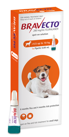 Bravecto Spot-On for Dogs Small (4.5-10 kg)